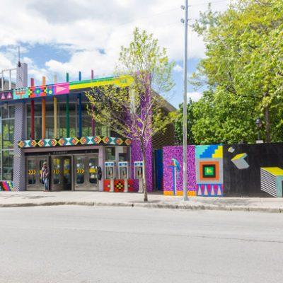 Supernova, Aires Libres 2013, Montréal. Commissaire: Marie-Ève Beaupré. Installation de papier sérigraphié sur la station de métro Beaudry