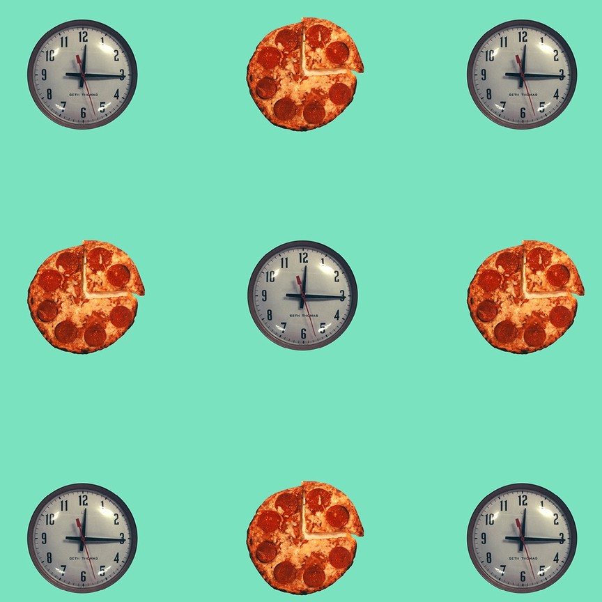Clock/Pizza – Turquoise
