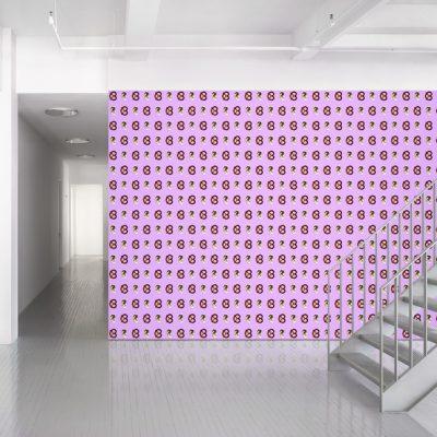 John Baldessari, « Ear/Pretzel - Pink », 2015, papier peint. ©Maharam