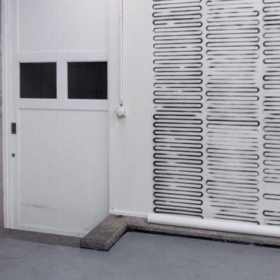 La Suite, 2012, installation de papier peint, Gymnase du Bugnon, Lausanne, Suisse