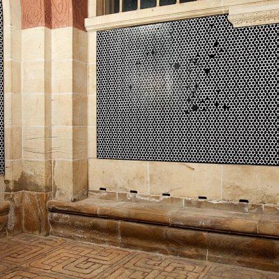 Revisited Tell's Chapel, 2010, installation de papier peint, Montbenon, Lausanne, Suisse