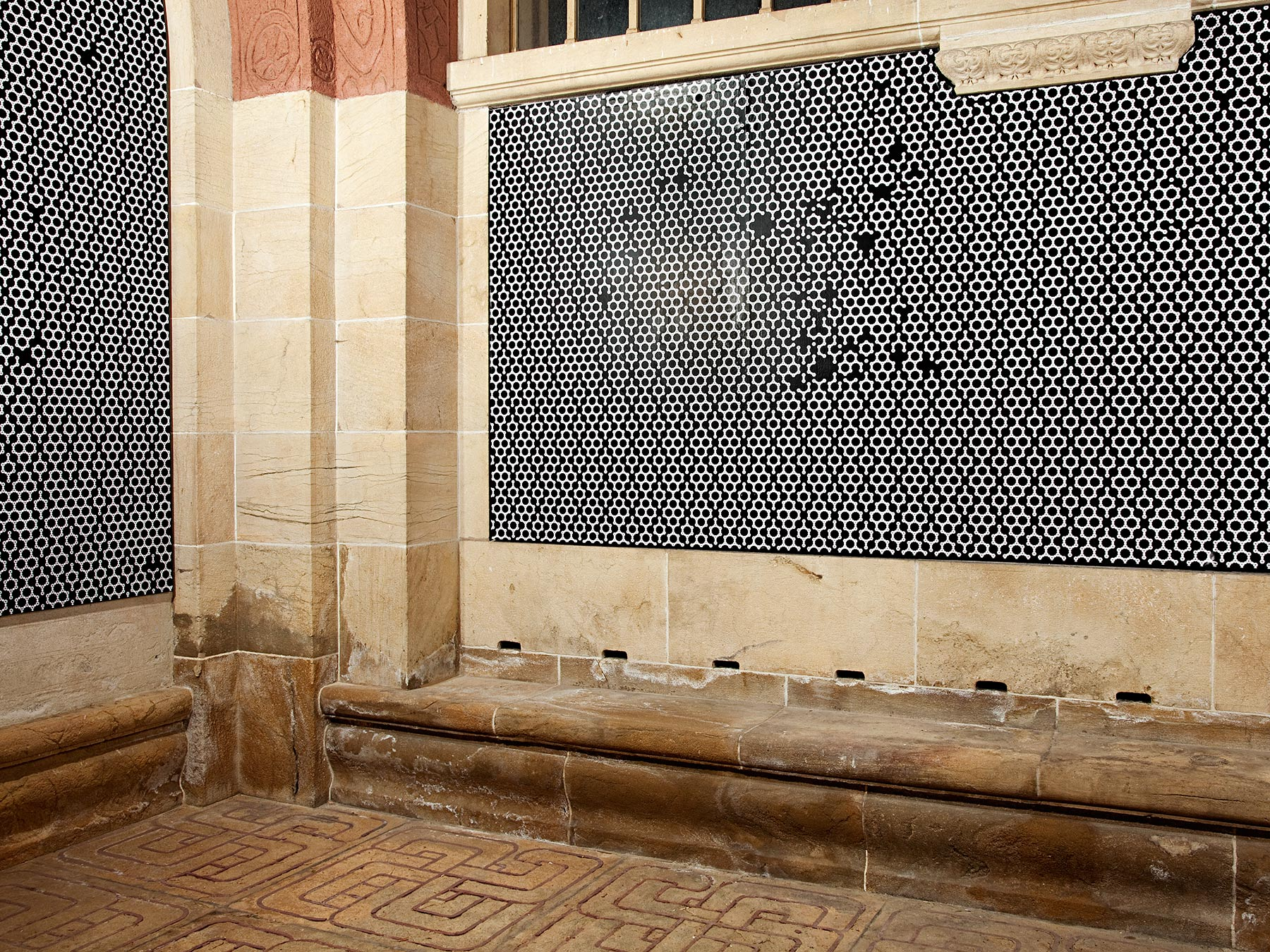 Revisited Tell's Chapel, 2010, wallpaper installation, Montbenon-Lausanne, Suisse-4