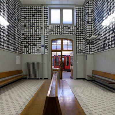Tertial, 2012, installation de papier peint, Festival Images, Vevey, Suisse