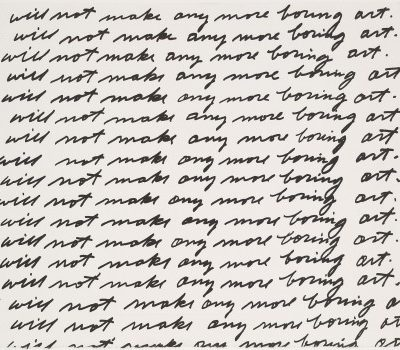 John Baldessari, « I Will Not Make Any More Boring Art », 1971. Lithographie, 56,8 x 75,1 cm, MOMA