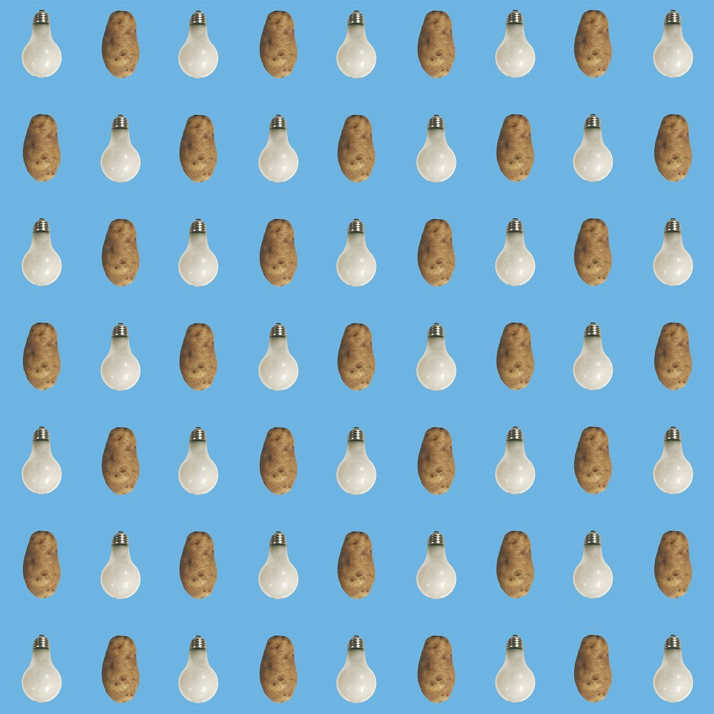 Potato/Lightbulb – Blue