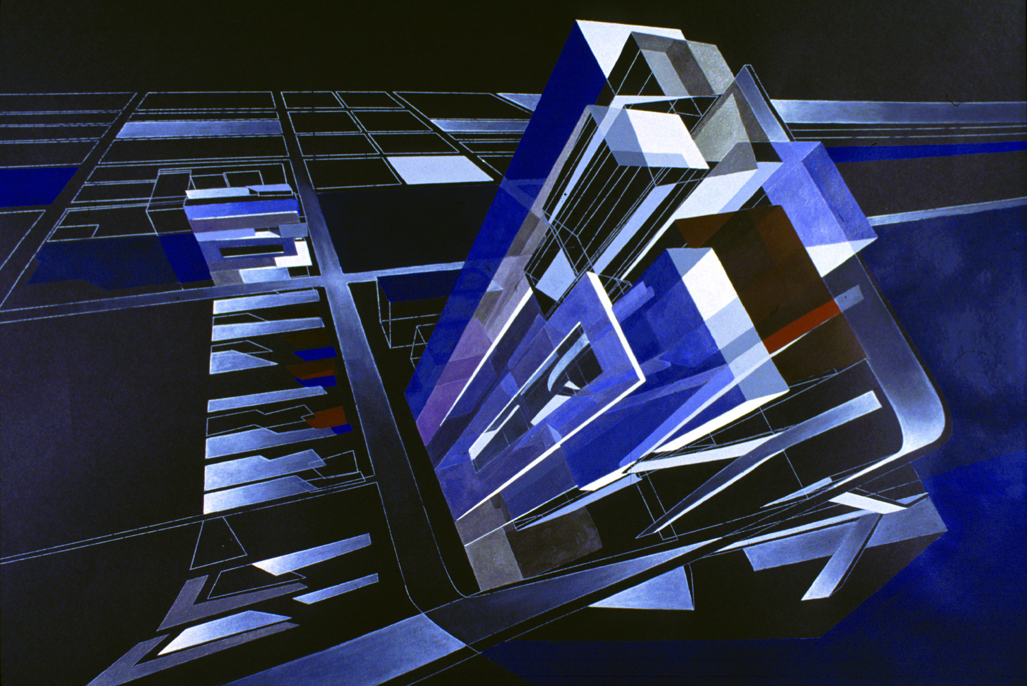 Rosenthal Center for Contemporary Art, 2003. Acrylique sur toile. © Zaha Hadid