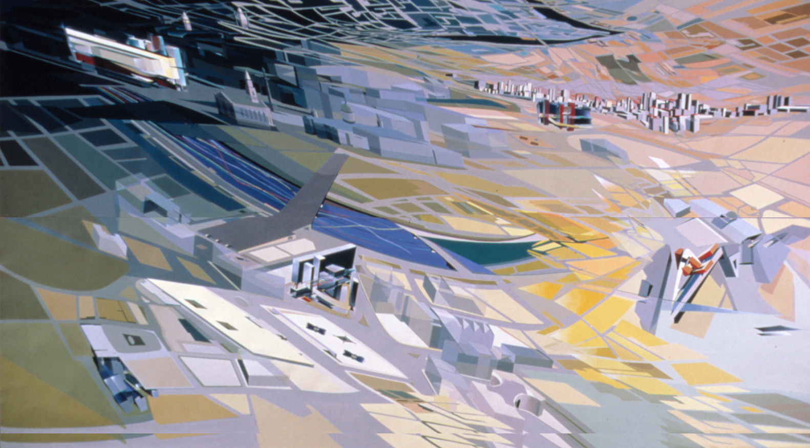 Grand Buildings Trafalgar Square, 1985. Acrylique sur toile. © Zaha Hadid