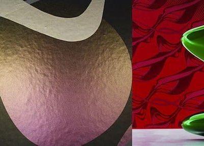Swirl, de la série Art Borders. Papier peint conçu pour Marburg Wallcoverings, Kircchain, Allemagne. 3,3 x 9 m. Photographie Konstantin Euenburg.