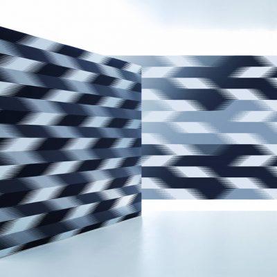 Stria, de la série Art Borders. Papier peint conçu pour Marburg Wallcoverings, Kircchain, Allemagne. 3,3 x 9 m. Photographie Konstantin Euenburg.