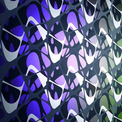 Elastika, de la série Art Borders. Papier peint conçu pour Marburg Wallcoverings, Kircchain, Allemagne. 3,3 x 9 m. Photographie Konstantin Euenburg.