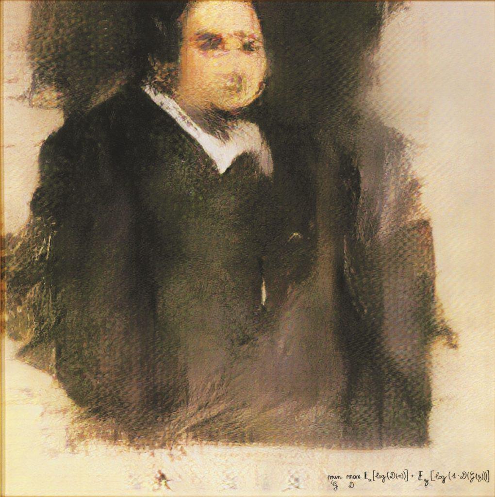 Obvious, Portrait of Edmond of Belamy, 2018