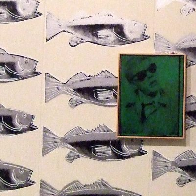 """Fish Wallpaper, 1983. From the exhibition """"Andy Warhol by Andy Warhol"""" at The Astrup Fearnley Museum of Modern Art, Oslo, Norway. December 14, 2008."""