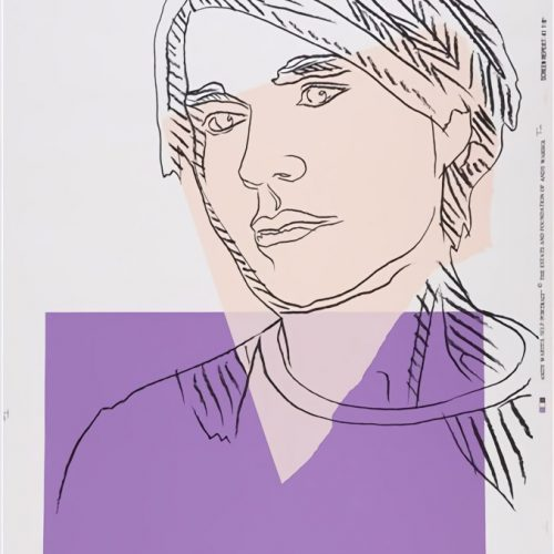 Self-portrait wallpaper, 1978, color silkscreen, 104 x 76.5 cm. (40.9 x 30.1 in.)